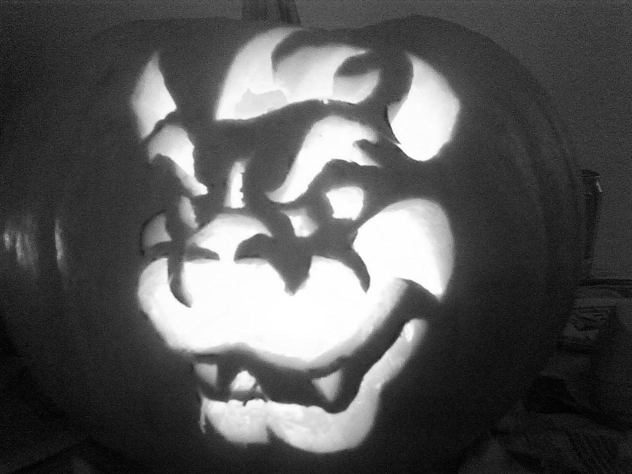 November 4th  2012Bowser Pumpkin Carving Patterns